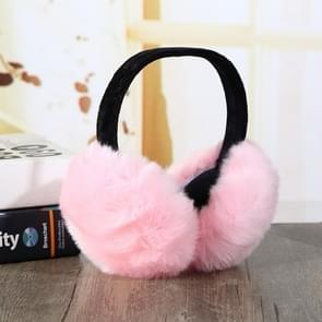 6PCSFaux Rabbit Fur Women Comfortable Warm Ear Cover Ear Adjustable( pink)