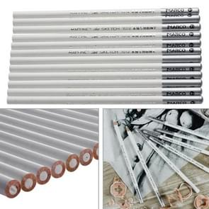 12 PCS White Art Sketch Drawing Non-toxic Pencils Chalk