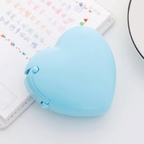 Schattig hart vorm kunststof tape dispenser creatieve donut decoratieve tape Cutter Kids Office school benodigdheden (blauw hart)