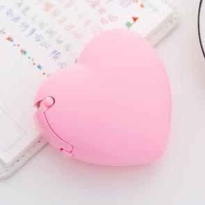 Schattig hart vorm kunststof tape dispenser creatieve donut decoratieve tape Cutter Kids Office School Supplies (roze hart)