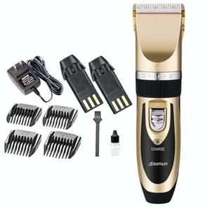 Wireless Electrical Hair Trimmer Rechargeable Mute Hair Clipper Hair Cutting Machine Set Trimmer Tool with 4 Combs Red, US Plug, Random Color Delivery