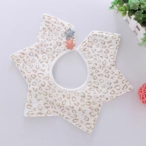 Star Bib Cotton Waterproof Saliva Pocket Children's Saliva Towel, Size:0-2 Years Old(Leopard Print)