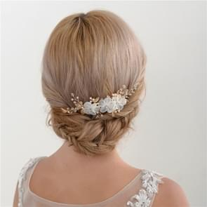Flower Rhinestone Combed Bridal Headdress