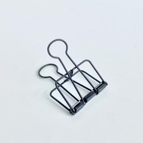 Metal Hollow Long Tail Clip Creative Stationery Office Paper Clip, Szie:M(Black)