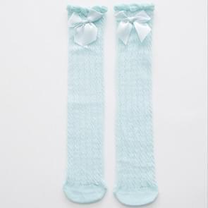 Mooie pure katoen mid-Barrel Princess knie sokken baby sokken  Kid grootte: 28cm (blauw)