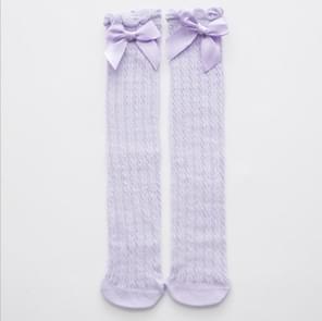 Mooie puur katoen mid-Barrel prinses kniekousen baby sokken  Kid grootte: 28cm (paars)
