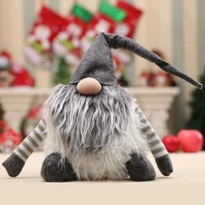 2 PCS Home Handmade Christmas Festival Plush Decoration(Grey)