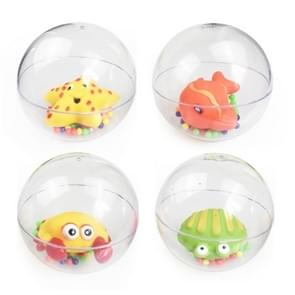 3 PSC Transparent Ball Rattles Crib Toy Toddler Hand Bell Intellectual Toy Random Color