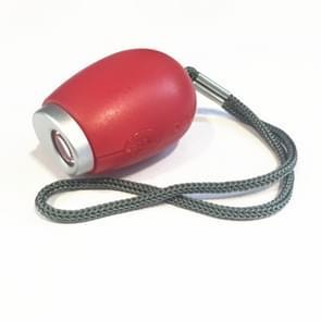 Draagbare digitale projectie alarm klok mini projector LED klok Carry time zaklamp klok met hangende touw (rood)