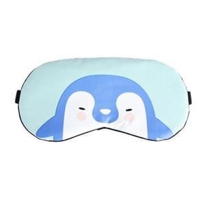 Cartoon dier schattig slaap oog masker oogschaduw cover massage ontspannen oog masker (licht blauwe pinguïn)