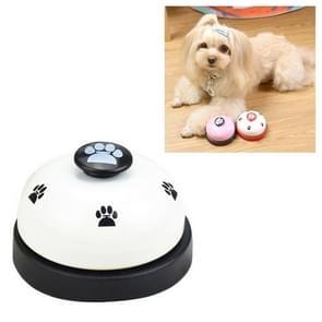 Dog Training Bell Pet Feeding Educational Toy IQ Training Puppy Call Bell Training Device Dog Training Supplies(White+Black)