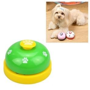 Dog Training Bell Pet Feeding Educational Toy IQ Training Puppy Call Bell Training Device Dog Training Supplies(Green+Yellow)