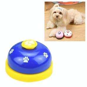 Dog Training Bell Pet Feeding Educational Toy IQ Training Puppy Call Bell Training Device Dog Training Supplies(Blue+Yellow)