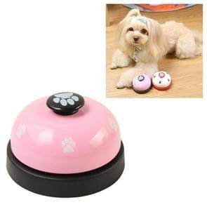Dog Training Bell Pet Feeding Educational Toy IQ Training Puppy Call Bell Training Device Dog Training Supplies(Pink+Black)
