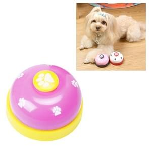 Dog Training Bell Pet Feeding Educational Toy IQ Training Puppy Call Bell Training Device Dog Training Supplies(Pink+Yellow)