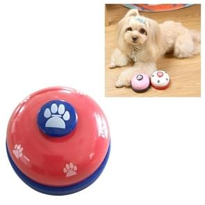 Dog Training Bell Pet Feeding Educational Toy IQ Training Puppy Call Bell Training Device Dog Training Supplies(Red+Blue)