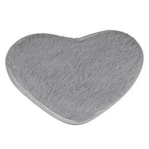 Heart Shape Non-slip Bath Mats Kitchen Carpet Home Decoration, Size:60*70CM(Silver Grey)