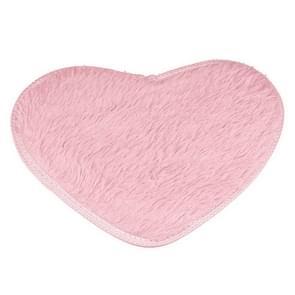 Heart Shape Non-slip Bath Mats Kitchen Carpet Home Decoration, Size:70*80CM(Pink)