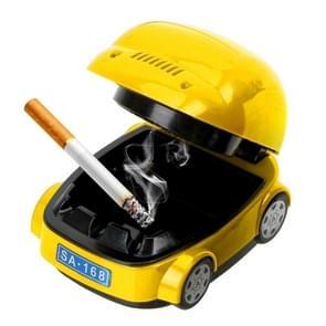 Creative Electric Car Type Ashtray Environmental Protection Smokeless Ashtray Craft Gift(Yellow)