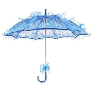 Wedding Parties Bridal Lace Cotton Umbrella Dancing Photography Prop Umbrella(Blue)