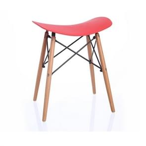 Nordic Fashion Casual Stool Modern Minimalist Dressing Table Dining Table Chair(Red)