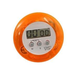 Round Magnetic Digital Countdown Timer Alarm Stand Kitchen Timer Cooking Alarm Clock(Orange)