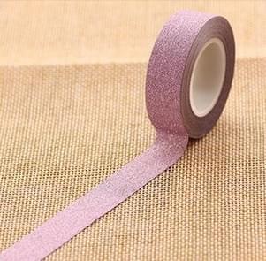 Flash Washi Sticky Paper Tape Label DIY Decorative Tape, Length: 10m(Pink)