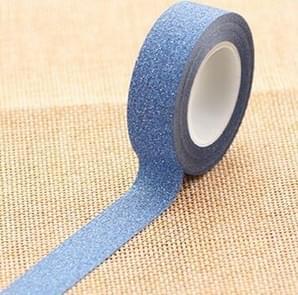 Flash Washi Sticky Paper Tape Label DIY Decorative Tape, Length: 10m(Royal Blue)