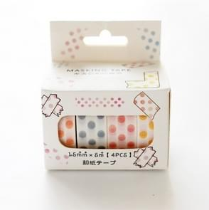 4 Rolls/Lot Grid Stripe Dot Paper Masking Tapes DIY Scrapbooking Sticker Dot