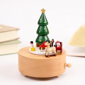 Houten carrousel muziekdoos voor Kerstmis verjaardag cadeau Home Decorations (kerstboom)