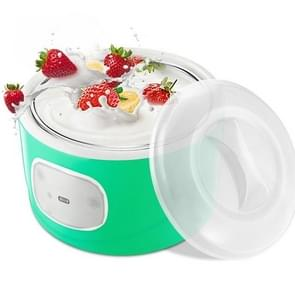 AUGIENB Kitchen Stainless Steel Home Automatic Yoghurt Machine Rice Wine Maker, Capacity:1L(Green)