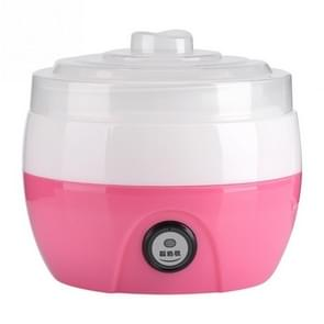 Electric Automatic Yogurt Maker Machine Yoghurt DIY Tool Kithchen Plastic Container 220V Capacity: 1L(Pink)