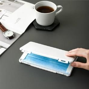 Masker Opslag box stofdicht vochtdicht draagbare pleister Bill Tijdelijke Opslag Houder (Ivory White)