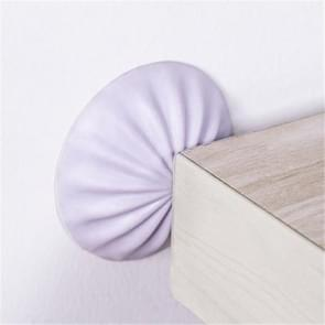 4 PCS Rubber Anti-Collision Stickers Silent Wall Protection Pad(Purple)