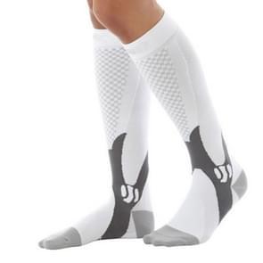 3 paar compressie sokken outdoor sport mannen vrouwen kalf Shin been running  grootte: XXL (wit)