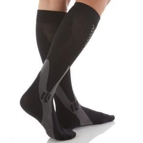 3 paar compressie sokken outdoor sport mannen vrouwen kalf Shin been running  grootte: XXL (zwart)
