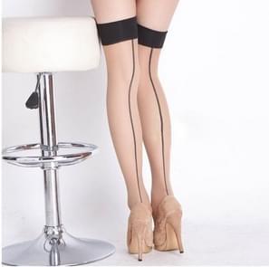 3 STKS vrouwen sexy perspectief gestreepte kousen Lady dij hoge panty lange kous nylon kousen (huidskleur)