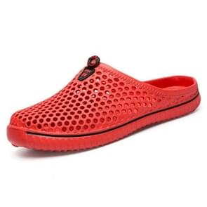 Mode ademend holle sandalen paar strand sandalen, schoenmaat: 43 (rood)