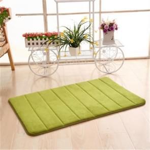 2 PCS Non Slip Water Absorption Rug Bathroom Mat Shaggy Memory Foam Kitchen Door Floor Mat, Size:40x60cm(Green)