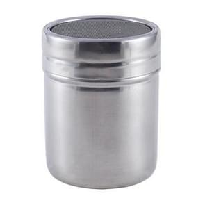 Stainless Steel Chocolate Shaker Cocoa Flour Salt Powder Sugar Coffee Sifter Lid Shaker Kitchen Accessories, Size:L