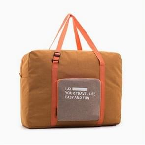 Folding Women Travel Bag Unisex Luggage Travel Handbags WaterProof Travel Bag Large Capacity Bag(Orange)