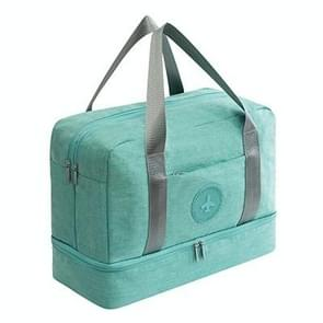 Waterproof Large Capacity Double Layer Beach Bag Portable Sports Bags Cube Bags Travel Bags(Tiffany Blue)