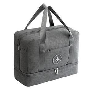 Waterproof Large Capacity Double Layer Beach Bag Portable Sports Bags Cube Bags Travel Bags(Gray)
