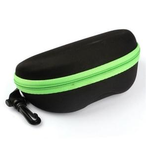 2 PCS Portable Zipper Eye Glasses Sunglasses Eyewear Shell Hard Case Protector Box, Random Color Delivery(Green)