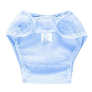 Zomer slim ademend waterdicht verstelbare baby mesh doek luier  grootte: M (Blauw)