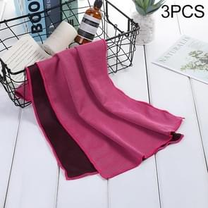 3 PCS Absorbent Polyester Quick-drying Breathable Cold-skinned Fitness Sports Portable Towel, Package:40x80 Aluminum Foil Bag(Magenta)