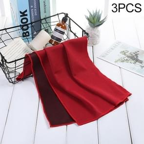 3 PCS Absorbent Polyester Quick-drying Breathable Cold-skinned Fitness Sports Portable Towel, Package:40x80 Round Cask(Red)