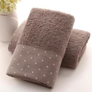 Absorbent Cotton Hair Beach Towel Quick-dry Sport Bathroom Sauna Towel, Size:35x75cm(Dark brown)