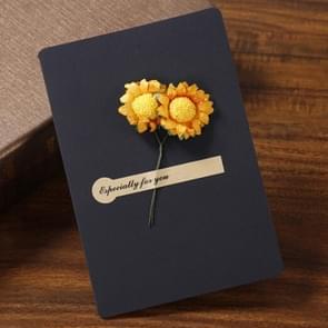 2 PCS Blessing Card Dry Flower Creative Universal Greeting Card (Zwart)