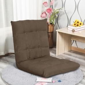 Lazy SofaSingle-person Folding Bed Small Sofa Back Chair Floating Window Chair Floor Chair Sofa Bed(Large Coffee Color)